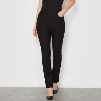 """Anne Weyburn Stretchy Elasticated Trousers With Brushed Finish Inside, Length 30.5"""""""