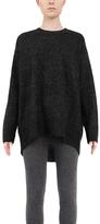 Black Oversize Crewneck Sweater