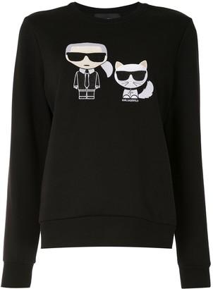 Karl Lagerfeld Paris Ikonik Karl&Choupette sweatshirt
