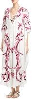 Melissa Odabash Embroidered Silk Kaftan