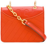 Tory Burch diagonal stitch shoulder bag - women - Leather - One Size