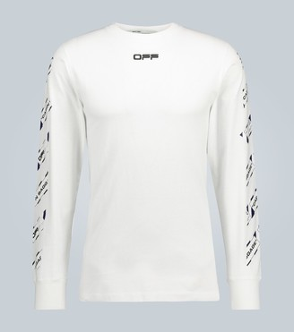 Off-White Airport Tape long-sleeved T-shirt