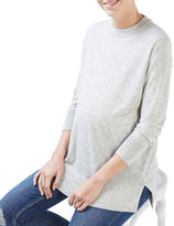 Topshop MATERNITY Cut-Out Wool-Blend Sweater