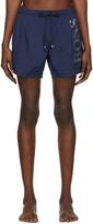 BOSS Navy Logo Swim Shorts