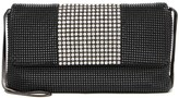 Whiting & Davis Metal Mesh Crystal Panel Clutch