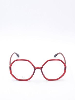 Christian Dior Geometric Frame Glasses