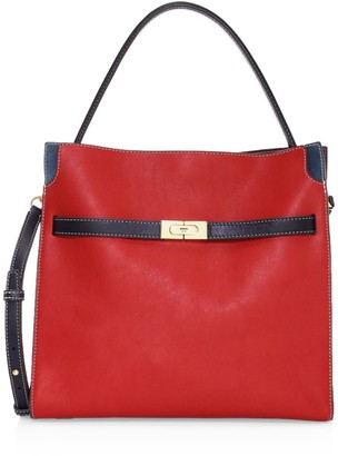 Tory Burch Lee Radziwill Leather Satchel