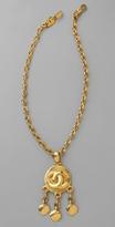 Wgaca Vintage Vintage Chanel CC Fringe Pendant Necklace