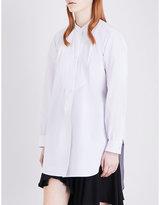 J.W.Anderson Oversized plissé-detail cotton shirt