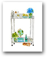 The Well Appointed House Lucite Bar Cart Colorful Art Print