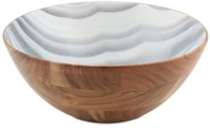 Thirstystone Closeout! Wood & Enamel Large Bowl