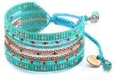 Mishky Multiple Strand Beaded Cuff Adjustable-Size Bracelet