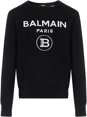 Balmain Logo Wool Sweater