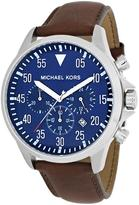 Michael Kors MK8362 Men's Gage Brown Leather Watch with Chronograph