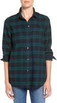 Madewell Women's Ex Boyfriend - Dark Plaid Classic Shirt