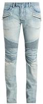 Balmain Biker Slim-leg Distressed Jeans