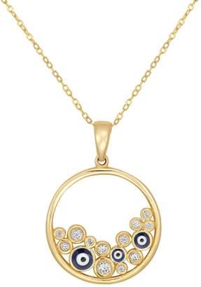 Fine Jewellery 10K Gold Evil Eye Pendant Chain Necklace