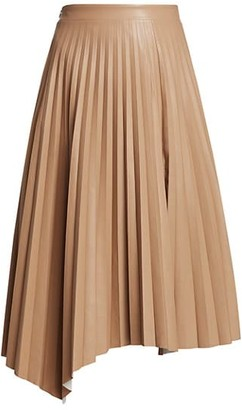 Jonathan Simkhai Jayla Pleated Vegan Leather Skirt