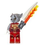 Lego CHIMATM Worriz with Fire Tooth CHI Weapon