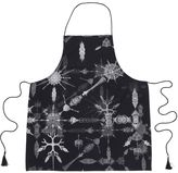 Unseen Black Printed Apron