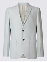 M&S Collection Linen Rich Tailored Fit Jacket