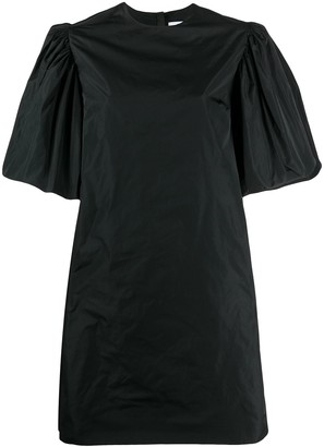 MSGM Puff Sleeved Taffeta Dress