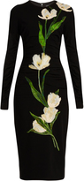 Dolce & Gabbana Tulip-appliqué wool-blend dress