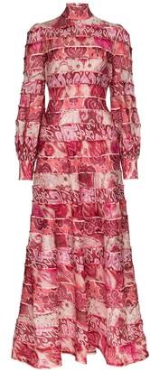 Zimmermann Ikat print maxi dress