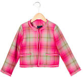 Oscar de la Renta Girls' Plaid Wool Jacket