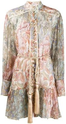 Zimmermann Lucky Bound silk shirtdress