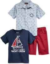 Nannette 3-Pc. Shirt, T-Shirt & Shorts Set, Little Boys (2-7)