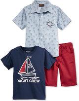 Nannette 3-Pc. Shirt, T-Shirt & Shorts Set, Little Boys (2-7)