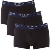 Ted Baker Men's Davinci Plain Boxers 3 Pack - Black