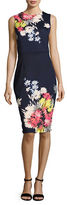 Lori Michaels Sleeveless Floral Scuba Dress