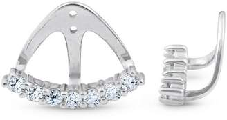 Pompeii3 3/4 Ct Diamond Stud Earring Jackets 14k White Gold