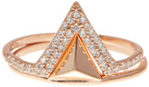 Lucky Brand Sterling Silver Triangle Stacked Ring