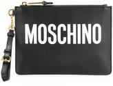 Moschino logo print clutch