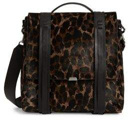 AllSaints Kim Printed Calf-Hair Leather Backpack