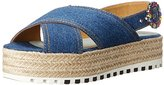 Marc Jacobs Women's Beverley Espadrille Denim Platform Sandal