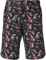 Dolce & Gabbana Musical Instrument Swim Shorts