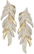 Adriana Orsini Women's Pavé Leaf Post Earrings