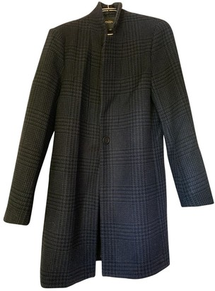 Maje Fall Winter 2018 Navy Cashmere Coats