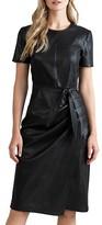 Thumbnail for your product : Shoshanna Pratt Faux Leather Short-Sleeve Dress