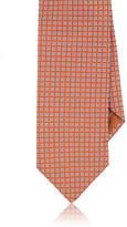 Brioni Men's Square-Dot-Pattern Silk Necktie