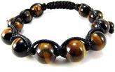 Miami Jewels 12mm All Authentic Tiger Eye Bead Adjustable Bracelet