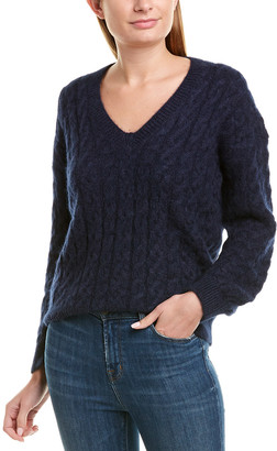 Vince Cable-Knit Mohair & Alpaca-Blend Sweater