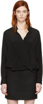 3.1 Phillip Lim Black Silk Wrap Blouse