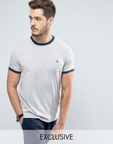 Jack Wills Baildon Ringer T-Shirt in Gray