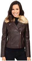 Andrew Marc Vanessa Faux Leather & Faux Fur Jacket