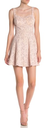 Bailey Blue Sequin Lace Skater Dress
